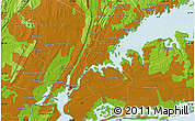 """Physical Map of the area around 40°50'23""""N,73°52'30""""W"""