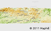 Physical Panoramic Map of A do Cavalo