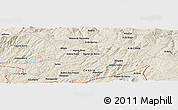 Shaded Relief Panoramic Map of A do Cavalo