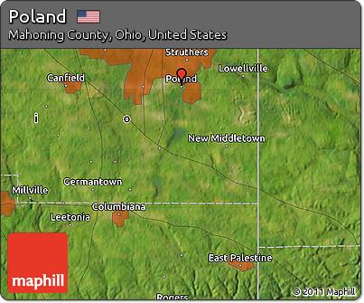 Free Satellite Map Of Poland