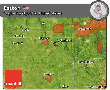 Free Satellite Map of Easton on