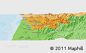 """Political Panoramic Map of the area around 40°50'23""""N,8°25'30""""W"""
