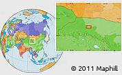 Political Location Map of Nanquan