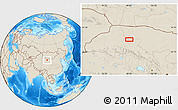 Shaded Relief Location Map of Nanquan