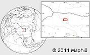 Blank Location Map of Xiaohongshan