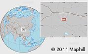 Gray Location Map of Xiaohongshan