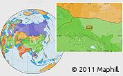 Political Location Map of Xiaohongshan