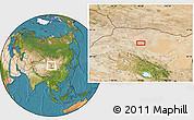 Satellite Location Map of Xiaohongshan