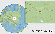 Savanna Style Location Map of Xiaohongshan