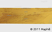 """Physical Panoramic Map of the area around 40°50'23""""N,99°31'30""""E"""