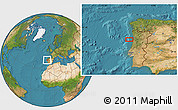 """Satellite Location Map of the area around 40°50'23""""N,9°16'30""""W"""
