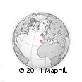 """Outline Map of the Area around 40° 50' 23"""" N, 9° 16' 30"""" W, rectangular outline"""