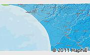 Political 3D Map of Wanganui