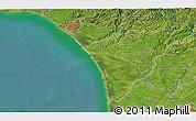 Satellite 3D Map of Wanganui