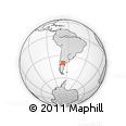 Outline Map of El Cuy, rectangular outline
