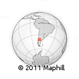Outline Map of Piedra Del Águila, rectangular outline