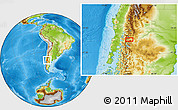 Physical Location Map of Junín de los Andes