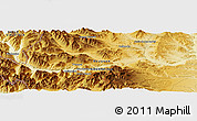 Physical Panoramic Map of Junín de los Andes