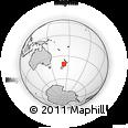 Outline Map of Pakawau, rectangular outline