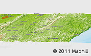 """Physical Panoramic Map of the area around 40°32'39""""S,176°1'30""""E"""