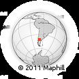 Outline Map of Pilahué, rectangular outline