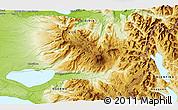 Physical 3D Map of Antillanca