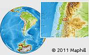 Physical Location Map of Antillanca
