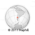 Outline Map of Antillanca, rectangular outline