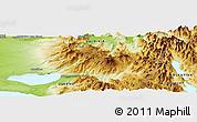 Physical Panoramic Map of Antillanca