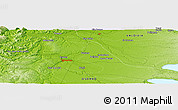 """Physical Panoramic Map of the area around 40°32'39""""S,73°1'30""""W"""