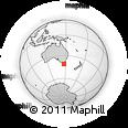 Outline Map of Tamar Valley, rectangular outline