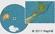 "Satellite Location Map of the area around 40°59'12""S,175°10'30""E"