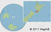 "Savanna Style Location Map of the area around 40°59'12""S,175°10'30""E"