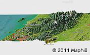 "Satellite Panoramic Map of the area around 40°59'12""S,175°10'30""E"