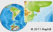 Physical Location Map of La Lobería