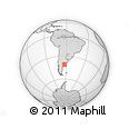 Outline Map of La Lobería, rectangular outline