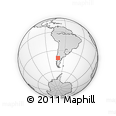 Outline Map of Bariloche, rectangular outline