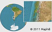 Satellite Location Map of Puerto Rico