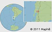 "Savanna Style Location Map of the area around 40°59'12""S,72°10'30""W"