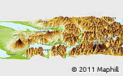 Physical Panoramic Map of Peulla