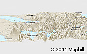 Shaded Relief Panoramic Map of Puerto Alegre