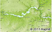 Physical Map of Torrente de Cinca