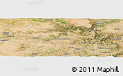 Satellite Panoramic Map of Alcañiz