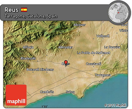 Map Of Spain Reus.Free Satellite Map Of Reus