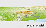 Physical Panoramic Map of Margalef