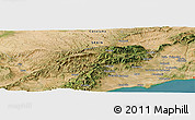 Satellite Panoramic Map of La Secuita