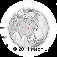 Outline Map of Ongt Gol, rectangular outline