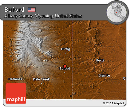 Free Physical 3d Map Of Buford
