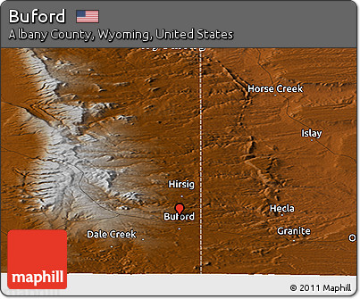 Free Physical Panoramic Map Of Buford