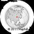 Outline Map of Xingshunxi, rectangular outline